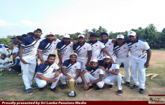 Public Service tri series Cricket Tournament Victory to Department of Pensions